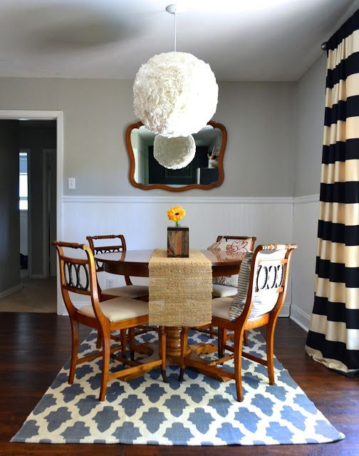 Small dining room kitchen design round table, budget friendly