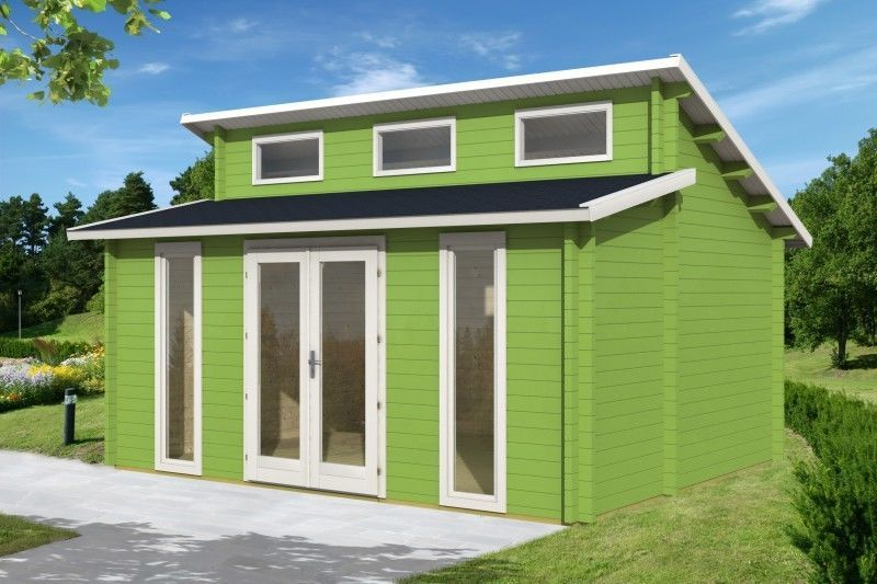 Gartenhaus 58mm Langeoog C 58 ISO 5,1x4,1m Blockhaus