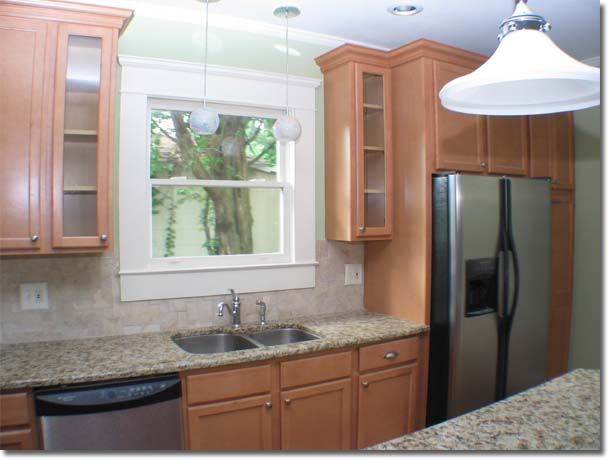 Kitchen sink cabinets balanced well