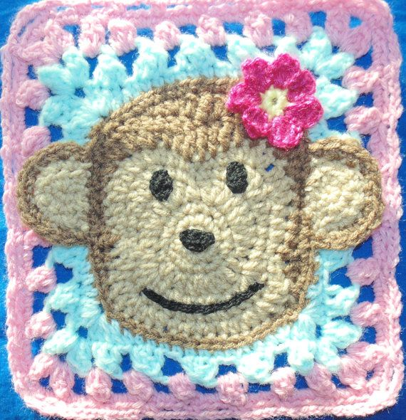 This Is A Crochet Pattern For A Barrel Of Monkeys Baby Blanket