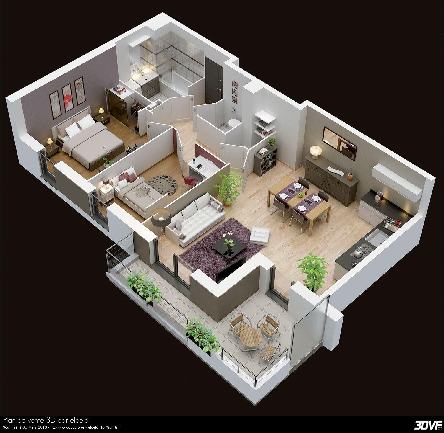 Plan Maison Moderne 3d Arquitectura Pinterest Interieur