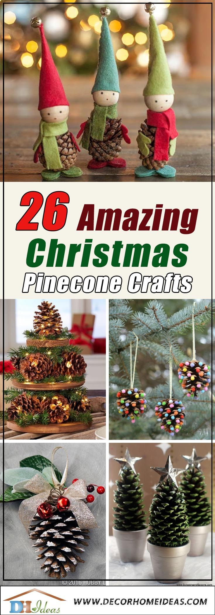 26 Diy Christmas Pine Cone Crafts To Add Extra Charm To Holidays Pinecone Crafts Christmas Pine Cone Christmas Decorations Pine Cone Crafts