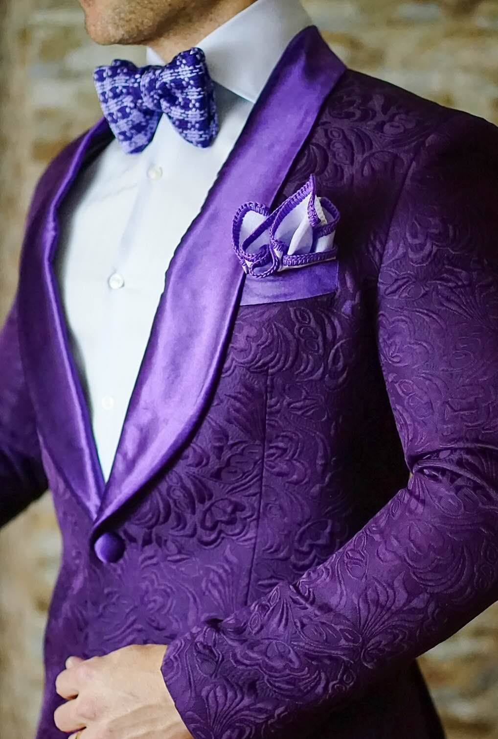 S by Sebastian Midnight Plum Paisley Dinner Jacket | Corbatas ...