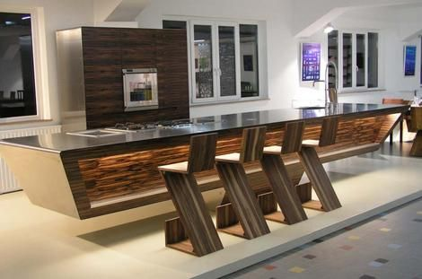 Futuristic Kitchen futuristic kitchen island design - flying kitchen the flying