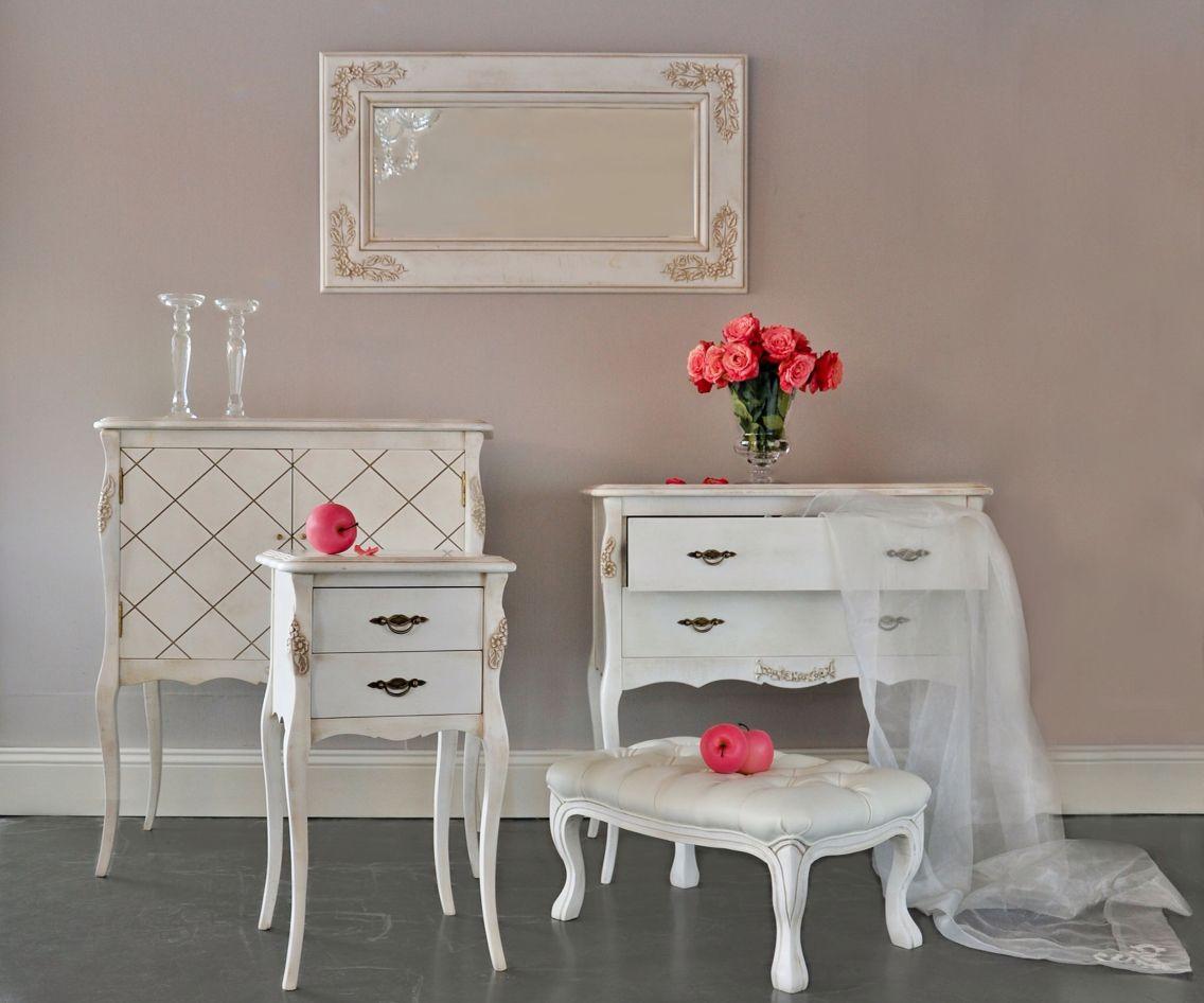 Mesa auxiliar, cómoda y taburete Luis XV. | Dormitorios | Pinterest ...