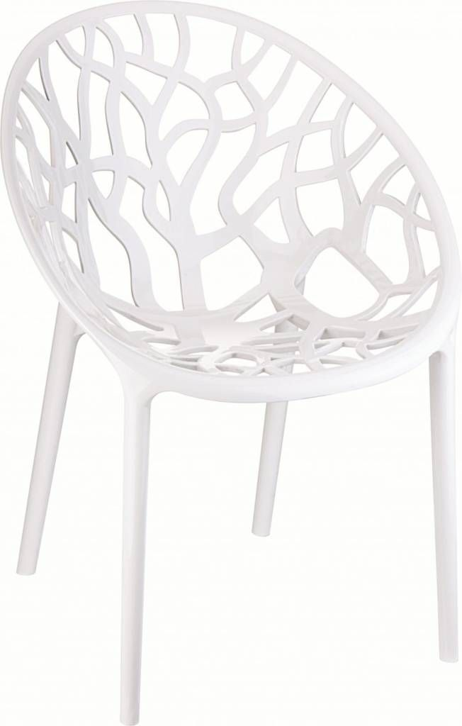 zuiver chaise en plastique cristal blanc 80x59x60cm garten ideen pinterest. Black Bedroom Furniture Sets. Home Design Ideas