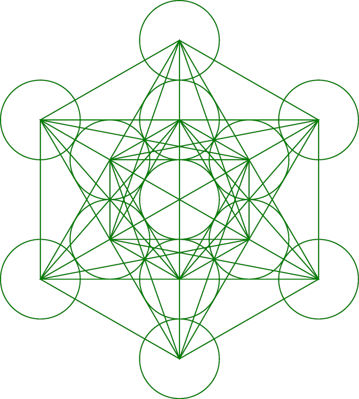 Metatrons Cube 133 Green Sacred Geometry Meanings Sacred Geometry Symbols Sacred Geometry Tattoo