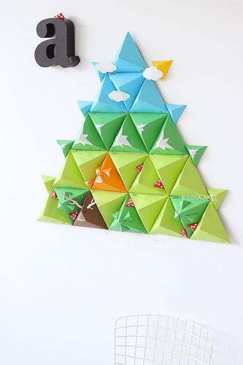 calendrier de l 39 avent ni os actividades pinterest adventskalender tetraeder und weihnachten. Black Bedroom Furniture Sets. Home Design Ideas