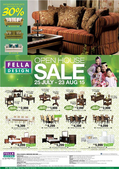 Elegant Fella Design Malaysia Are Having Their Open House Sale Now. Enjoy Special  Offers, Great Deals On Home Furniture Items And Many More.