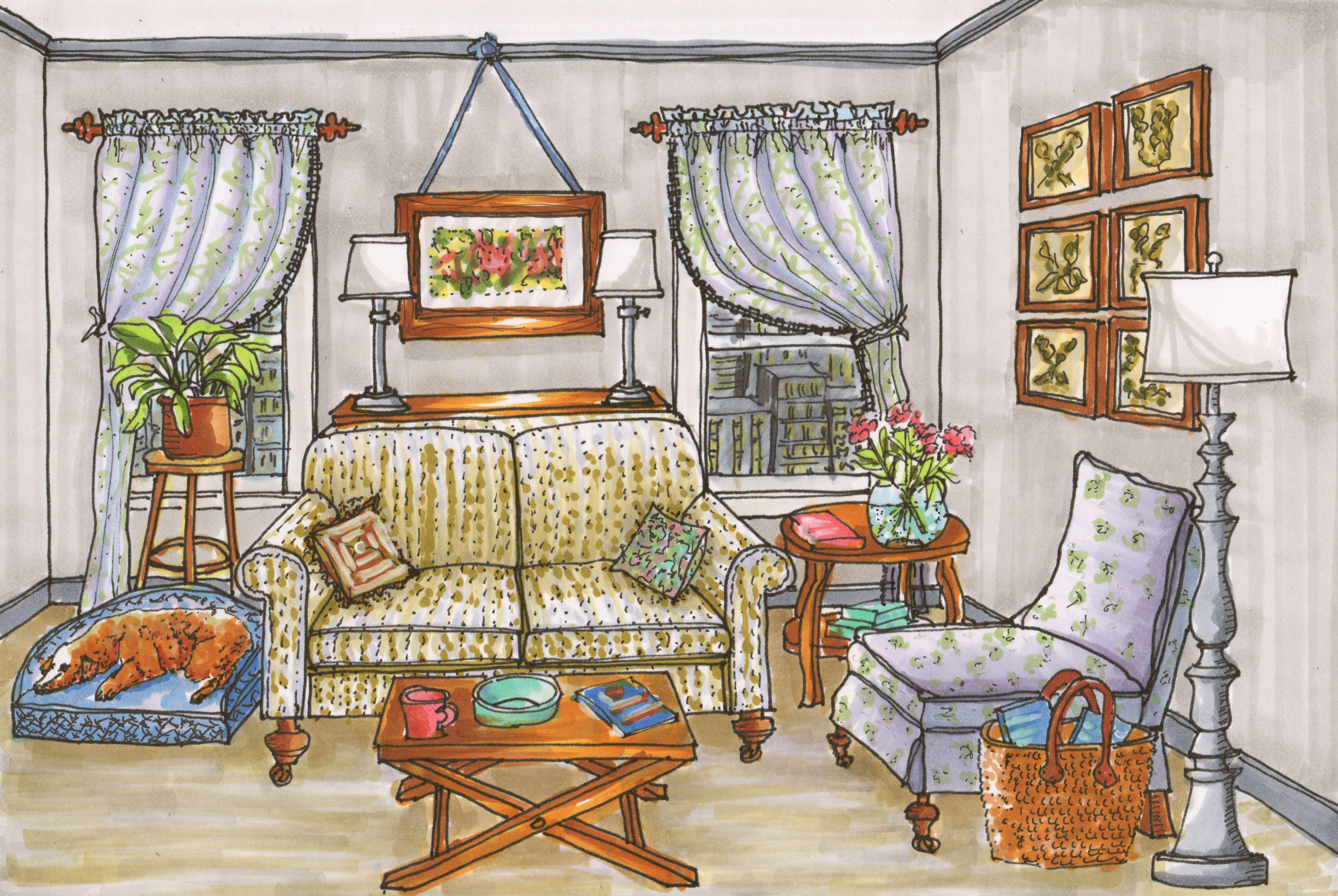 Pin de rita da estamparole em ilustra es colorful for Siti di interior design