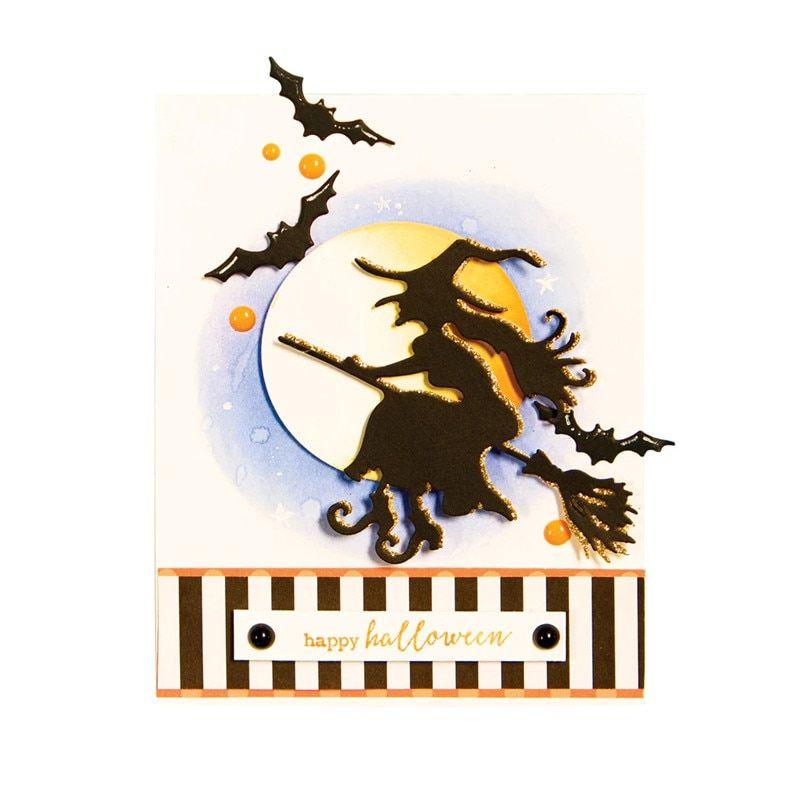 Halloween Metal Cutting Dies Witch Cut Die Scrapbook Album Paper Card Making DIY