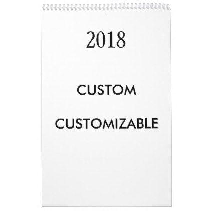 2018 Customizable Customize Custom Template Calendar - office template calendar