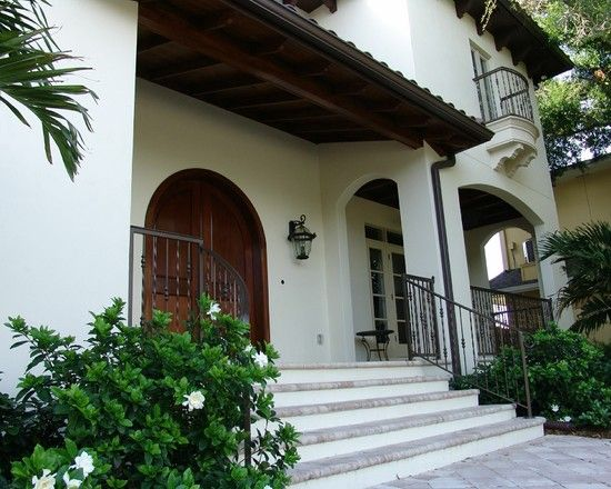 Mediterranean Home Style With Stylish Interior Side: Wonderful Tampa House  03 Exterior Design For The Welcome Door Decorated In Classical To.