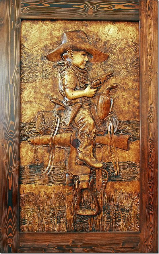 Wood carving custom carvings western art and