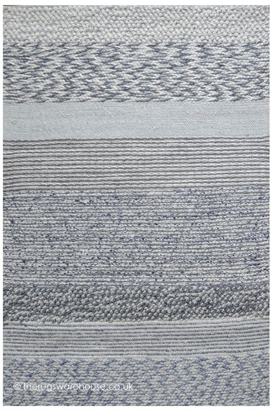 Vallis Rug A Luxury Hand Woven Rug With Multi Textured Stripes In Shades Of Blue Handmade Wool Viscose Http W Rugs On Carpet Carpets Online Viscose Rug