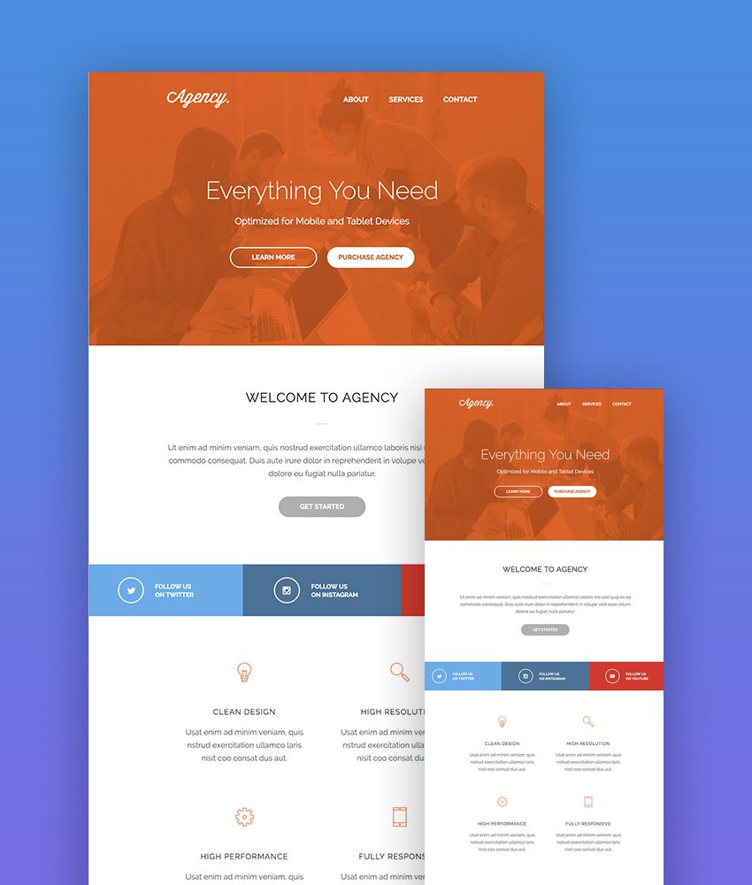 Agency Customizable MailChimp Template Responsive email