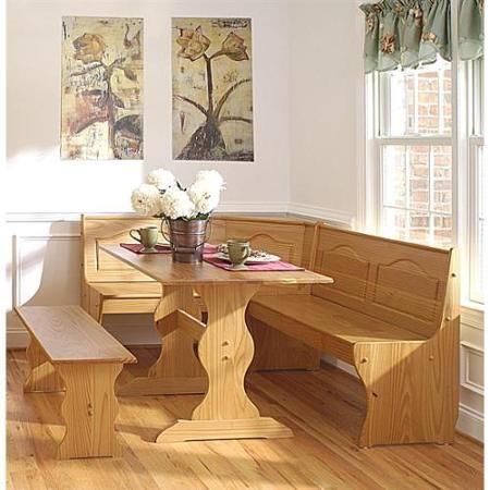 Brazilian Pine Dining Nook Set W Bench Style Seating Breakfast Nook Furniture Nook Dining Set Nook Furniture