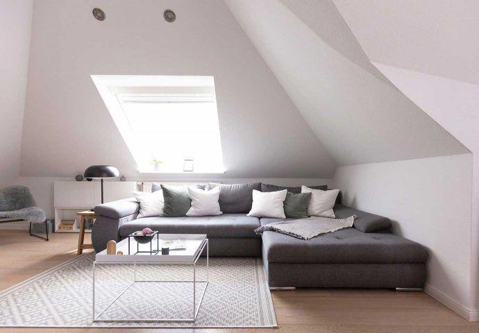 #wohnzimmer Dachschräge einrichten » Stauraum und Gestaltung   OTTO