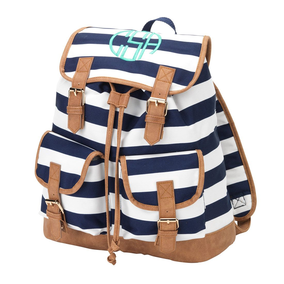 Navy and White Backpack 404d1f9ecd960