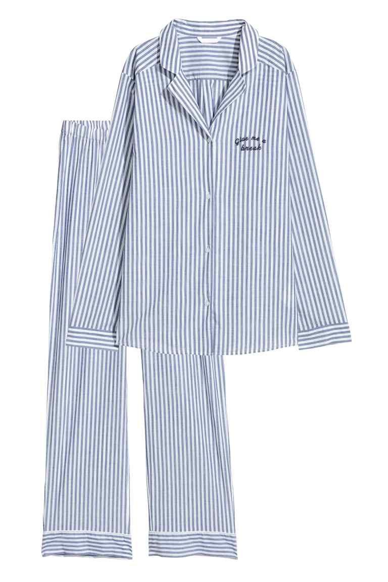 molto carino 4d55f 2dffd Pigiama camicia e pantaloni | Autunno | Pantaloni blu scuro ...