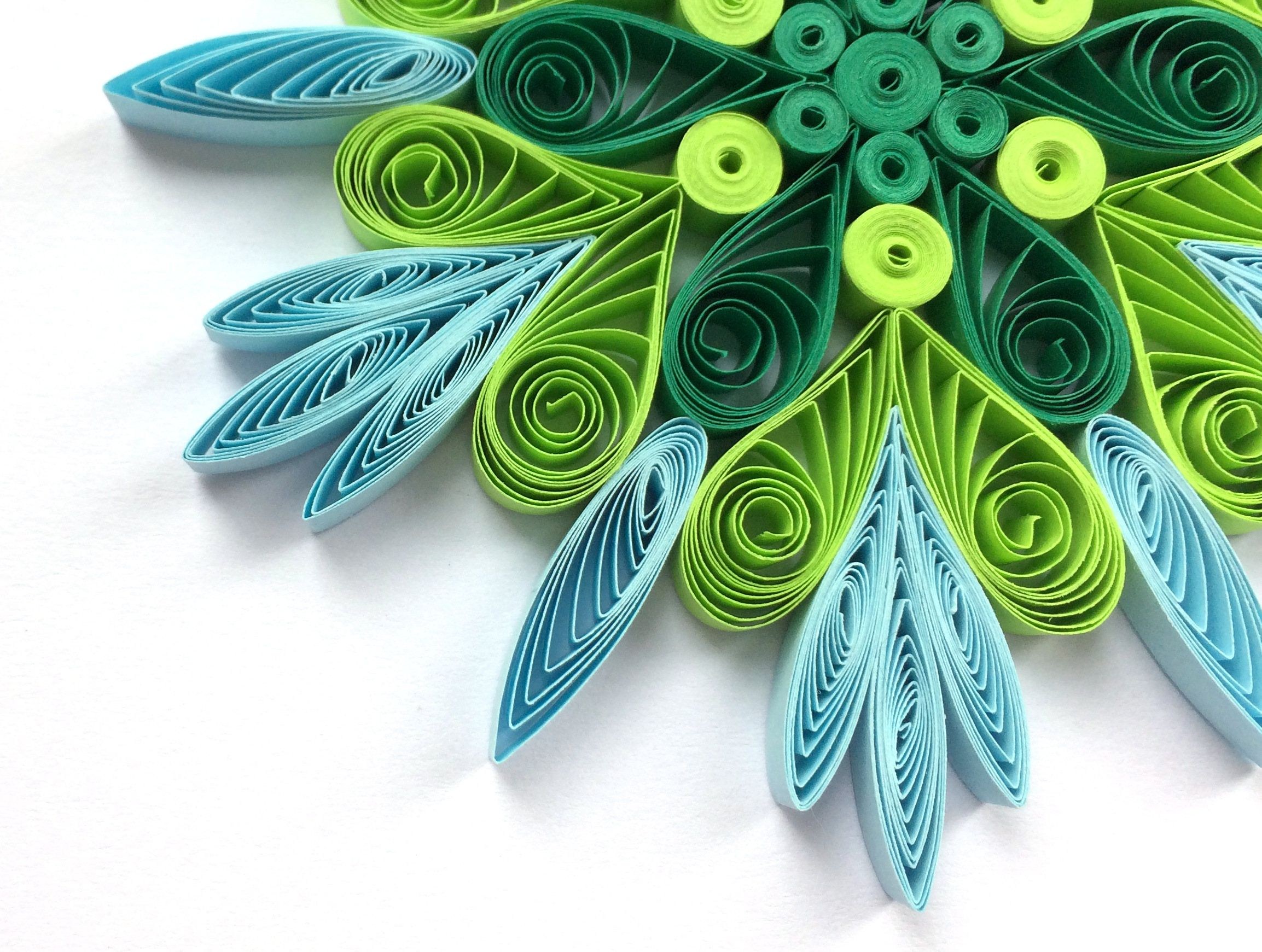 Snowflake Green Blue Christmas Tree Decoration Winter Ornaments Gifts Toppers