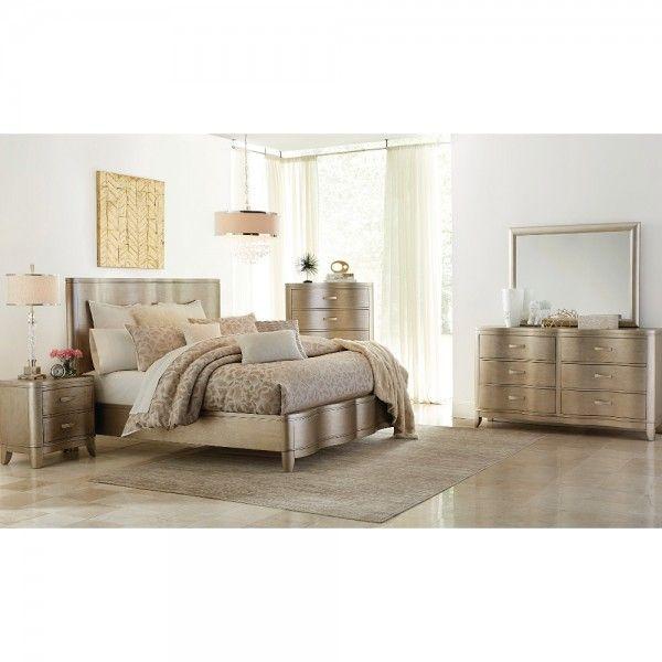 Serendipity Bedroom Bed Dresser Mirror King Champagne 974166 Master Bedroom Set Bedroom Panel Queen Bedroom Furniture