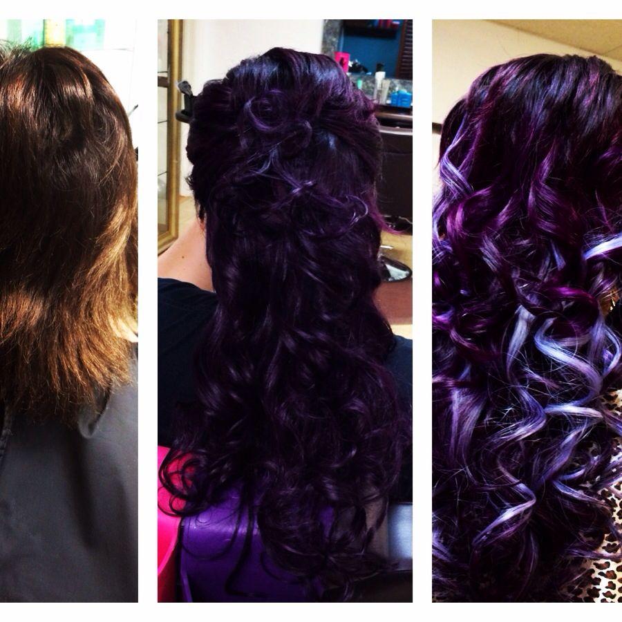 Elegant Purple Wine Hair Color