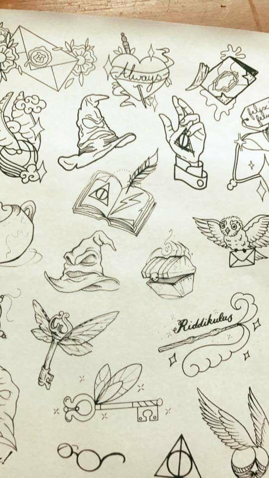 Harry Potter Tattoos Note Harry Potter Zeichnungen Ideen Fürs