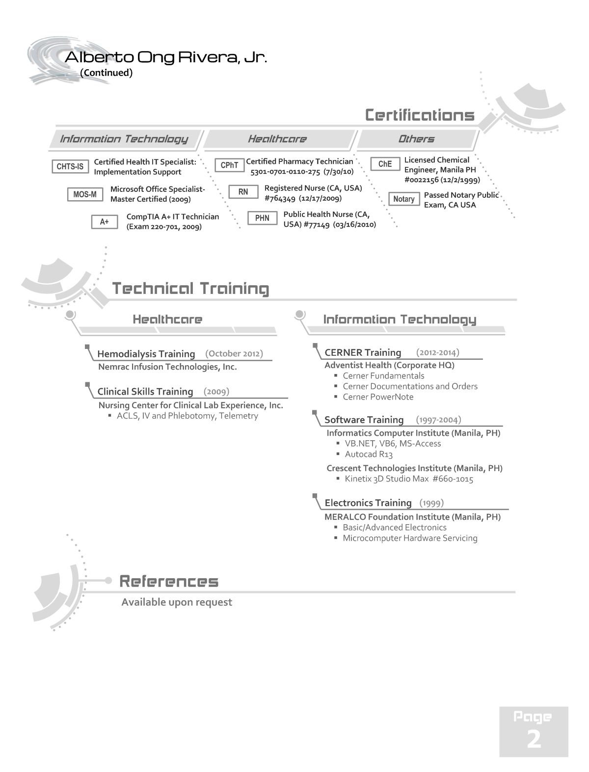 My Resume Page 2   Graphical Resumes   Pinterest