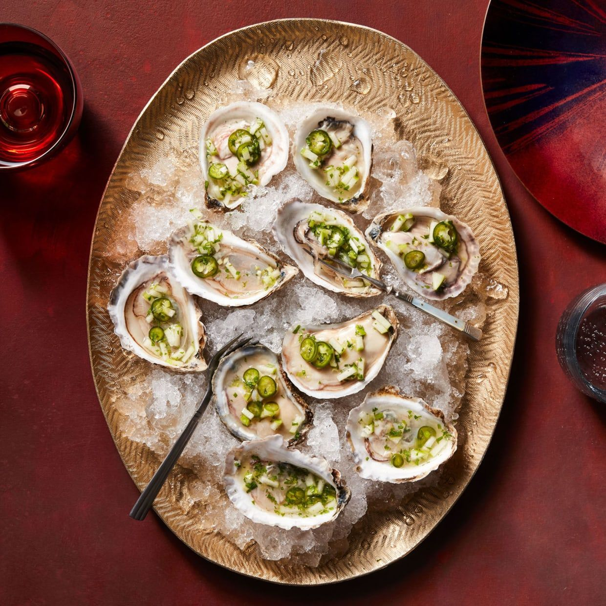 Oysters With Green Apple-Jalapeno Mignonette