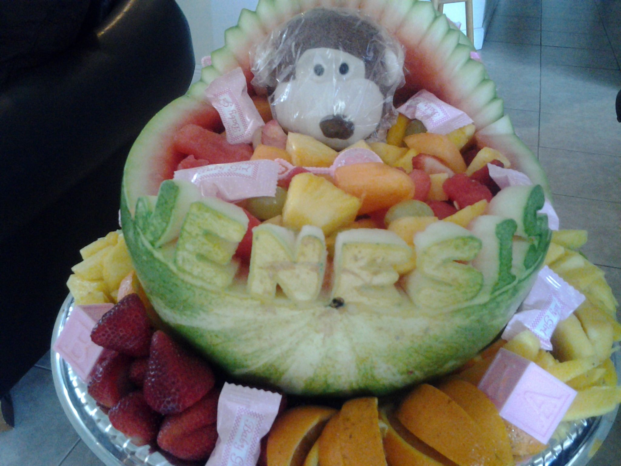 Personalize Fruit Basket For A Baby Shower