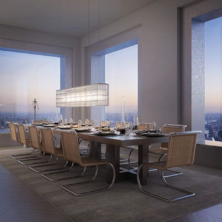 Take a peek inside 432 park avenue the tallest residential building in the western hemisphere while the towering buildings of the new york city skyline