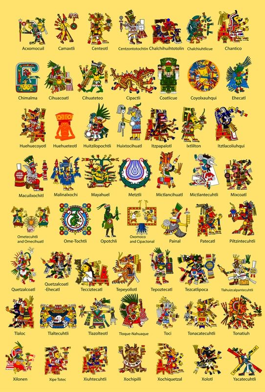 Aztec God Poster | Aztec, Incan, and Mayan mythology ...
