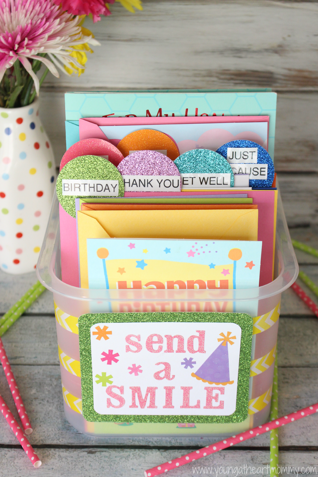 Young At Heart Mommy Send A Smile With Hallmark Diy Greeting Card