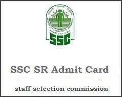 Ssc Sr Admit Card Exam Question Paper Cards