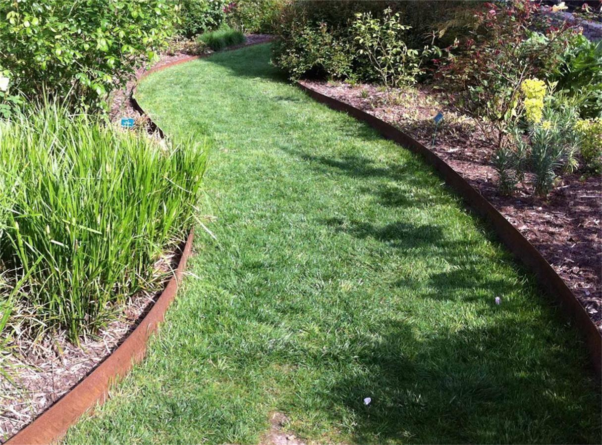 bordure jardin acier corten : bordure en acier galvanisé ou acier