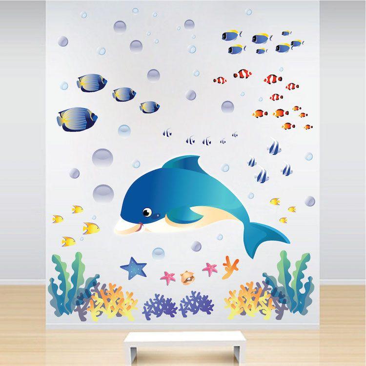 Under The Sea Wall Decals   Fish Bedroom Stickers   Primedecals