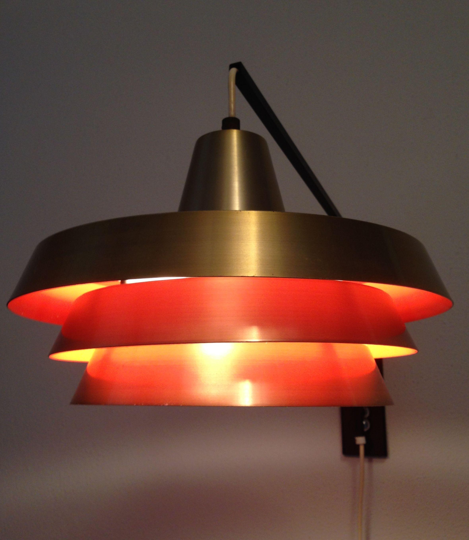 Danish wall lamp Carl Thore Granhaga Trava lamp Vintage design wall lamp Deens design lamp