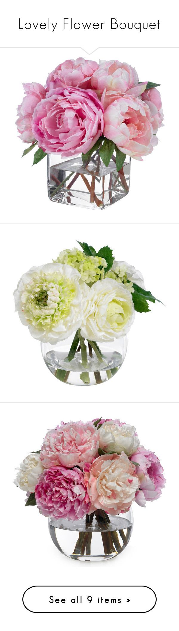 Diy centerpieces faux flowers faux flowers silk flowers and lovely flower bouquet by anetacerna liked on polyvore featuring home home decor floral decor silk peony bouquet fake peony arrangement silk peony dhlflorist Image collections