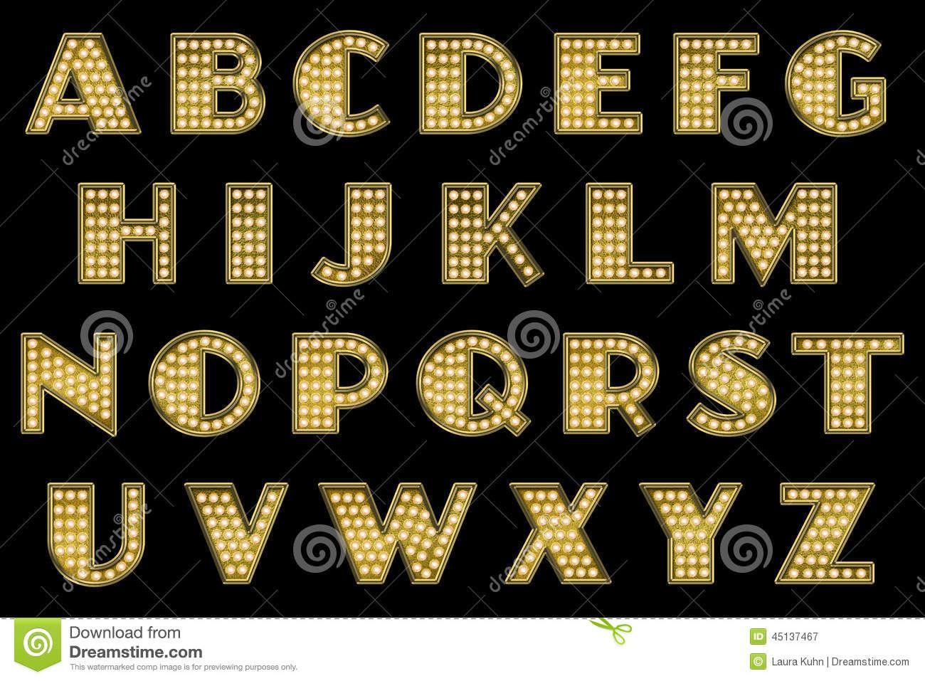 Digital Scrapbook Alphabet Vaudeville Marquee Download From Over