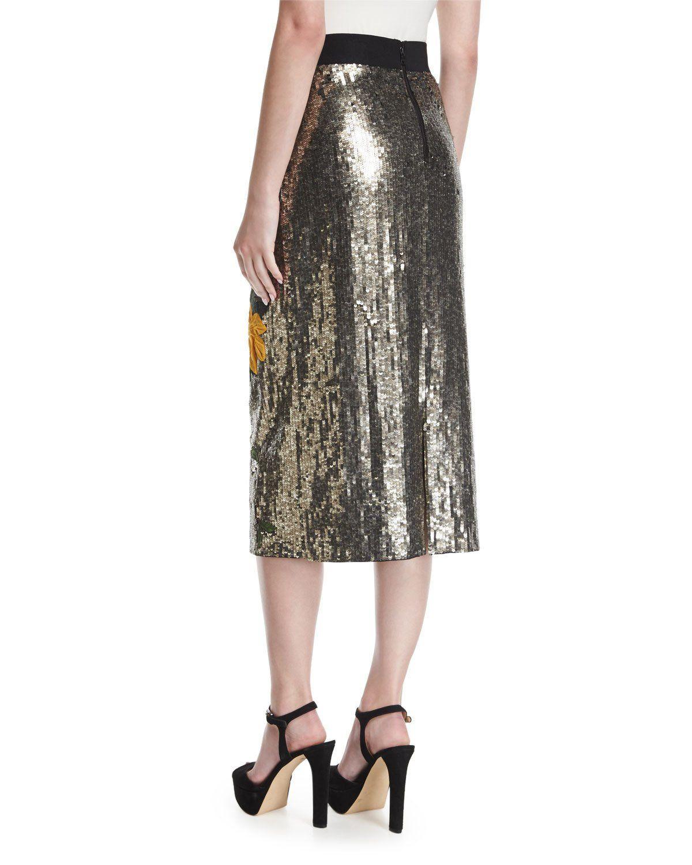 439c231648fe Ella Embellished Sequin Straight Midi Skirt   Products   Midi skirt ...