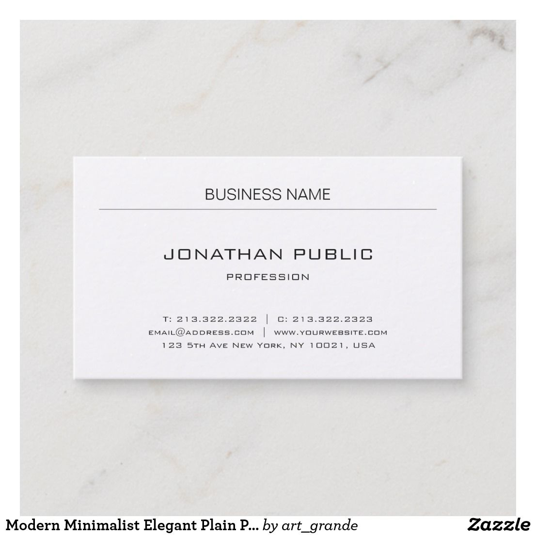 Modern minimalist elegant plain professional business card nice modern minimalist elegant plain professional business card reheart Images