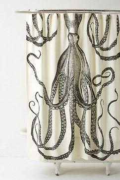 Octopus Garden Shower Curtain Eclectic Shower Curtains