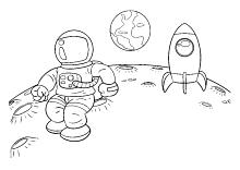 Astronaut Auf Dem Mond Astronauten Auf Dem Mond Weltraum Weltall