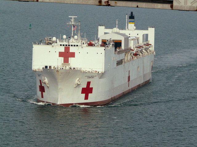 Usns Comfort Navy Corpsman Ocean Habitat Aircraft Carrier