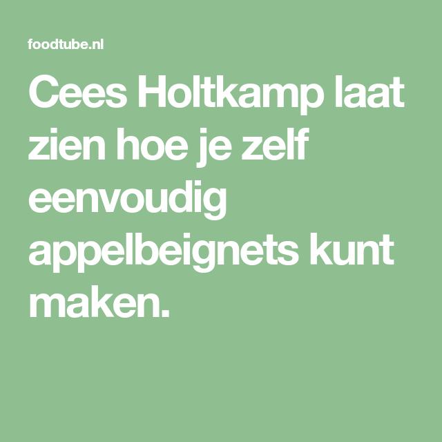 Cees Holtkamp laat zien hoe je zelf eenvoudig appelbeignets kunt maken. #appelbeignetsmaken