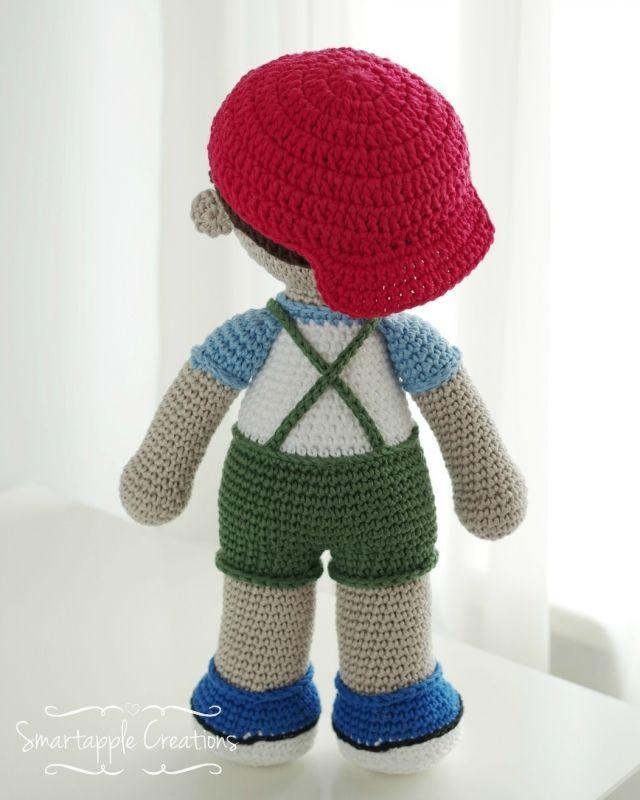 Jack - Crochet Amigurumi Boy Doll Pattern - PDF download ... | 800x640