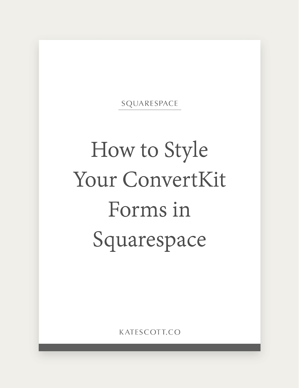 How to Style Your ConvertKit Forms in Squarespace Web