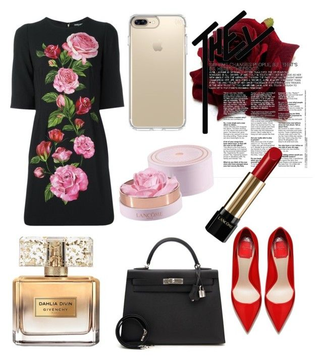 """💥🔥"" by yzxk ❤ liked on Polyvore featuring Givenchy, Dolce&Gabbana, Speck, Lancôme, Hermès, Dior, dolceandgabbana and hermes"