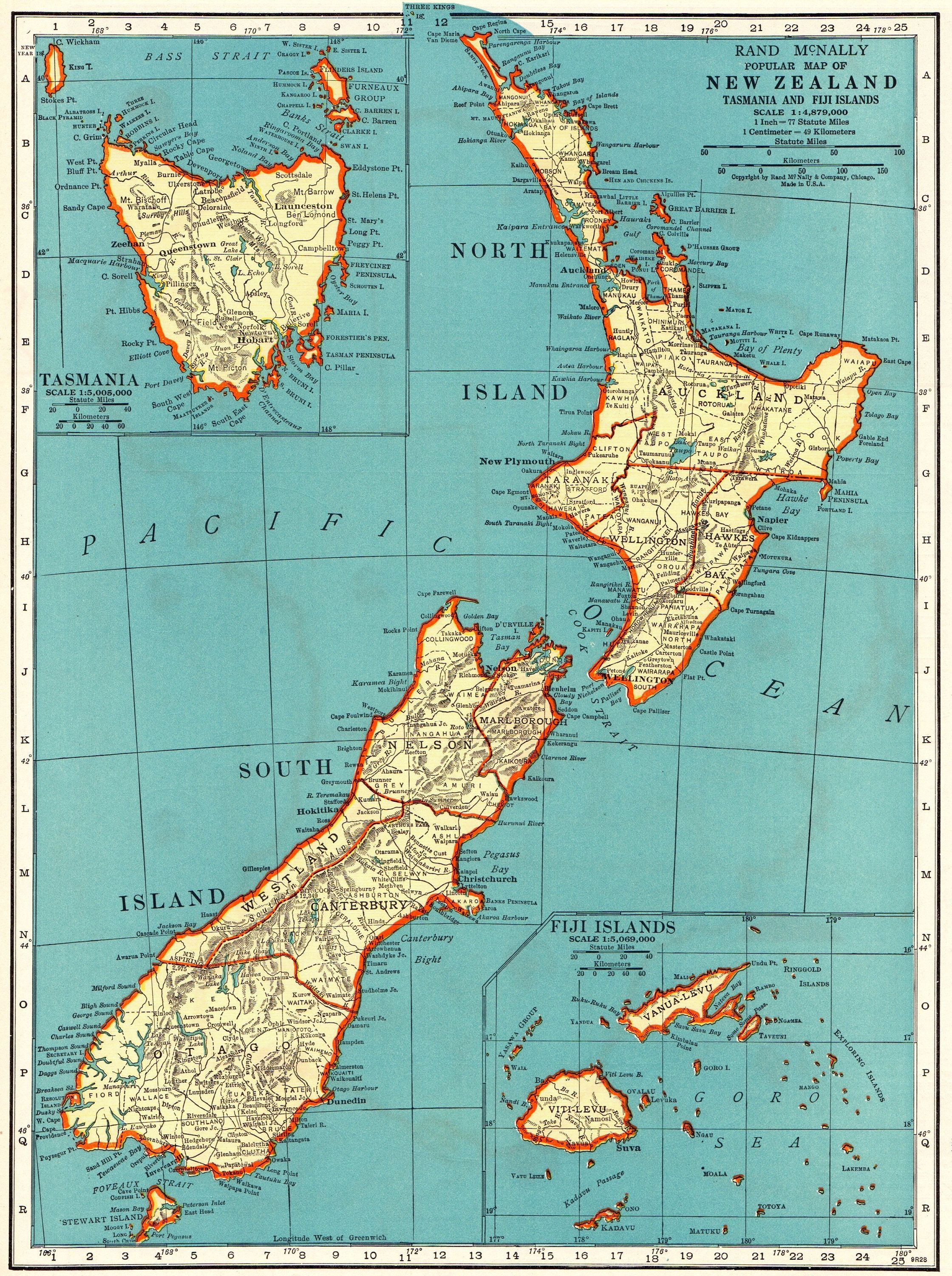 1939 antique new zealand map vintage map of new zealand